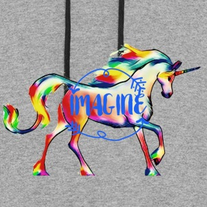 imagine Unicorn - Colorblock Hoodie
