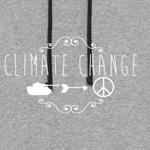 climate change / anti war - Colorblock Hoodie