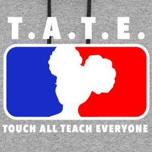 Touch All Teach Everyone Afro Puffs Logo - Colorblock Hoodie