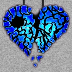 Icy Blue Heart Logo - Colorblock Hoodie