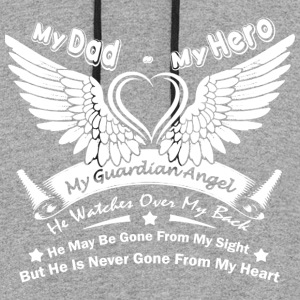 My Dad My Hero T Shirt - Colorblock Hoodie