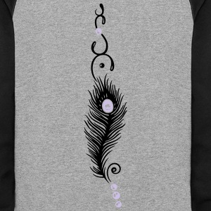 Feather, peacock feather, indian style, jewelry - Colorblock Hoodie