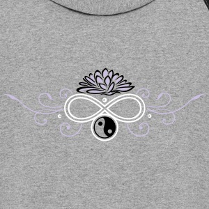 Lotus with infinity and Yin & Yang - Colorblock Hoodie