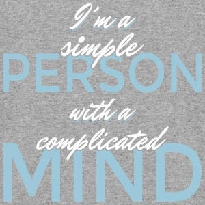 I'm a simple person with a complicated mind - Colorblock Hoodie
