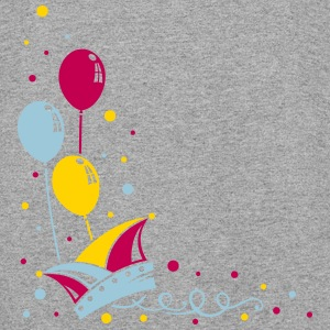 Carnival hat with balloons, streamer and confetti. - Colorblock Hoodie