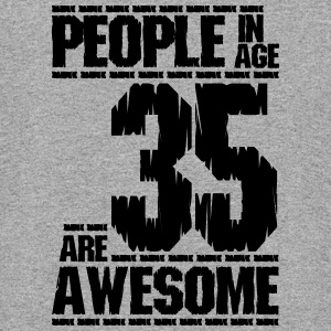 PEOPLE IN AGE 35 ARE AWESOME - Colorblock Hoodie