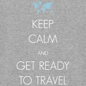 Keep calm and get ready to travel - Colorblock Hoodie