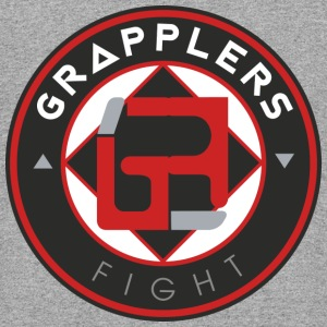 Dark 001 grapplersfight LOGO Back - Colorblock Hoodie