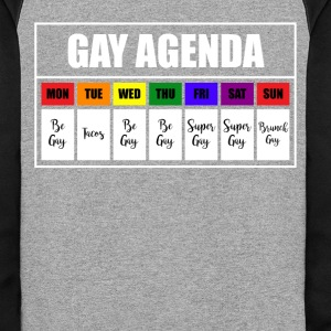 lgbt gay agenda t shirt - Colorblock Hoodie