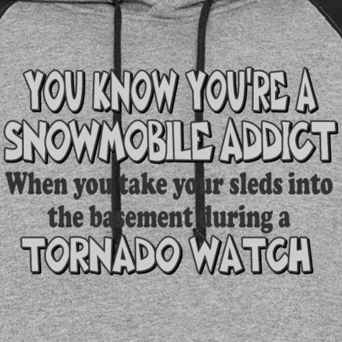 Snowmobile Tornado Watch - Unisex Colorblock Hoodie