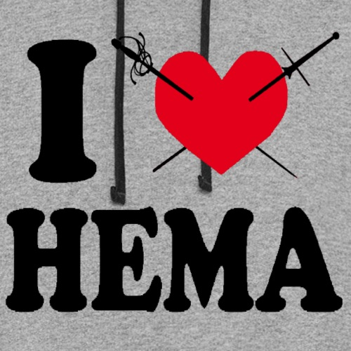I love HEMA-modified - Colorblock Hoodie