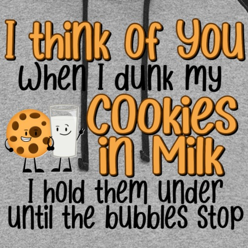 Dunk My Cookies In Milk - Unisex Colorblock Hoodie