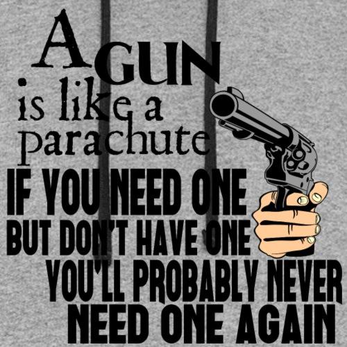 Gun is like a Parachute - Unisex Colorblock Hoodie