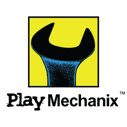 Play Mechanix Logo_ BLK - Unisex Colorblock Hoodie