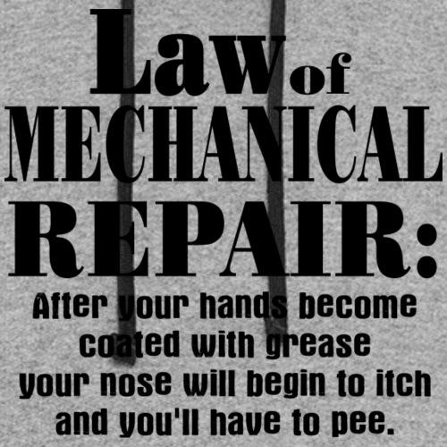 Law of Mechanical Repair - Unisex Colorblock Hoodie