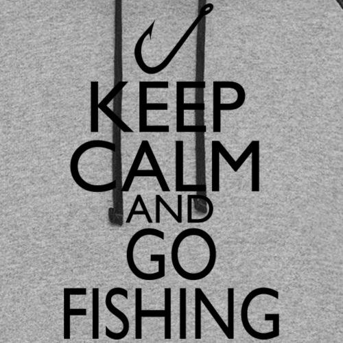 Keep Calm & Go Fishing - Unisex Colorblock Hoodie