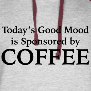 Today's Good Mood Is Sponsored By Coffee - Colorblock Hoodie
