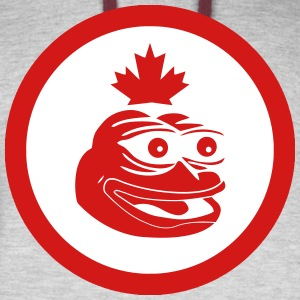 Canadian Pepe the Frog Flag - Colorblock Hoodie