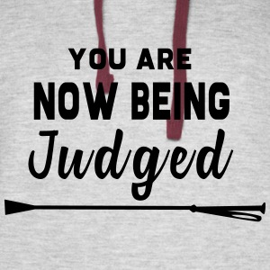 You Are Now Being Judged - Colorblock Hoodie