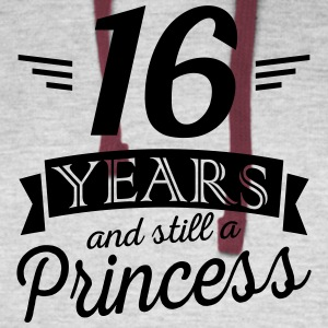 16 years and still a princess - Colorblock Hoodie