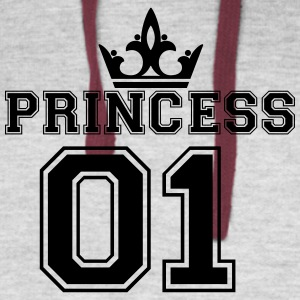 Princess_with_crown_01 - Colorblock Hoodie