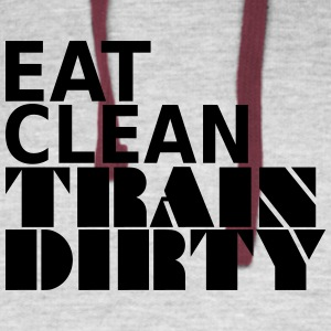 Eat Clean Train Dirty - Colorblock Hoodie