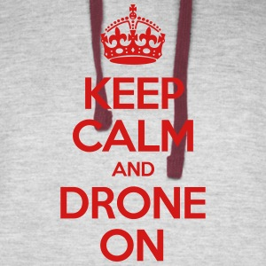 Keep calm and drone on - Colorblock Hoodie