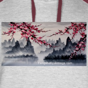 cherry-blossom-painting - Colorblock Hoodie