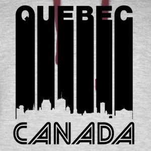 Retro Quebec Skyline - Colorblock Hoodie