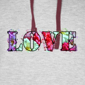 Love-Roses-Collage - Colorblock Hoodie