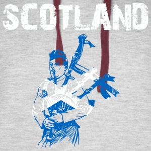 Nation-Design Scotland Bagpipe - Colorblock Hoodie