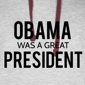Obama was a great president! - Colorblock Hoodie