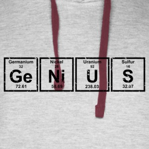 Genius (Periodic Elements) - Colorblock Hoodie