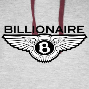 Billionaire - B Design (Black) - Colorblock Hoodie