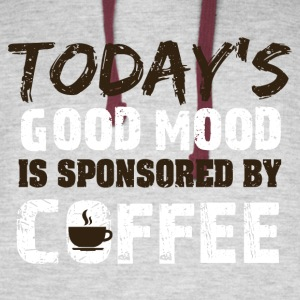 Today is good mood in sponsorend by coffee - Colorblock Hoodie
