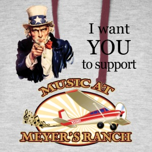 I Want You, Uncle Sam - Music at Meyer's Ranch - Colorblock Hoodie