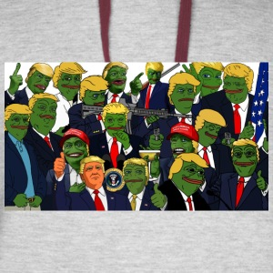 Trump Pepe Collage - Colorblock Hoodie