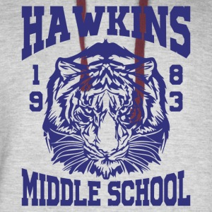 Hawkins Middle School 1983 Tiger - Colorblock Hoodie