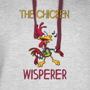 THE CHICKEN WISPERER - Colorblock Hoodie