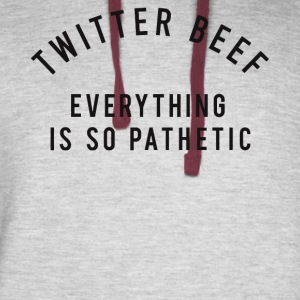 Twitter beef everything is so pathetic shirt - Colorblock Hoodie