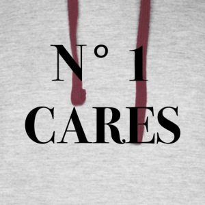 no one cares - Colorblock Hoodie