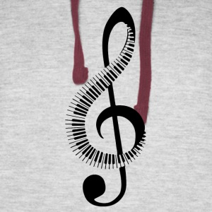 Music note treble clef - Colorblock Hoodie