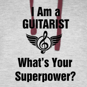 I am a Guitarist - What's your superpower? - Colorblock Hoodie