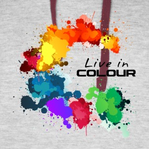 Live In Colour - Paint Splashes Colour Tee - Colorblock Hoodie
