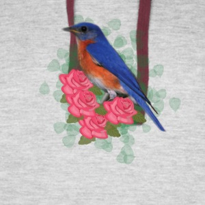 Bird and Roses - Colorblock Hoodie