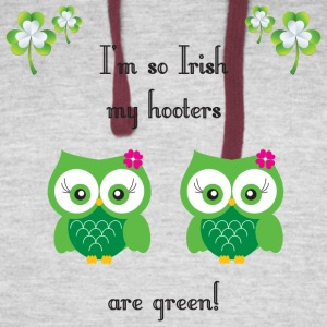 I'm so Irish my hooters are green! - Colorblock Hoodie