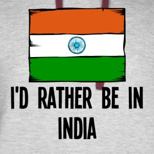 I'd Rather Be In India - Colorblock Hoodie