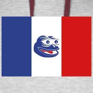 French Pepe the Frog - Colorblock Hoodie