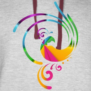 Colorful rolling bird - Colorblock Hoodie