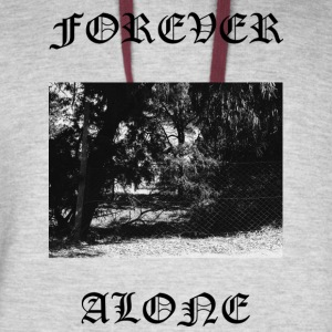 FOREVER ALONE - Colorblock Hoodie